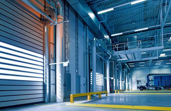 Image: south London warehouse LED lighting.