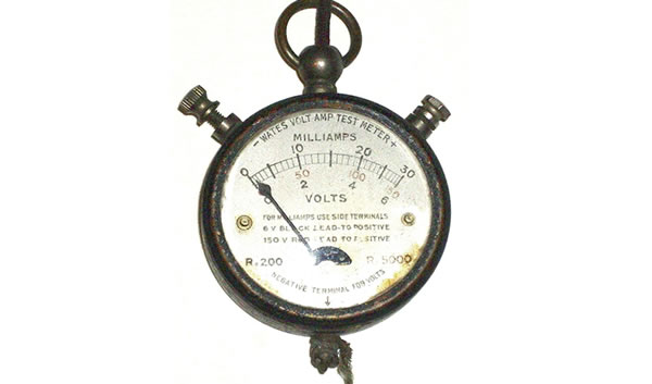 Image - old electrical testing equipment.