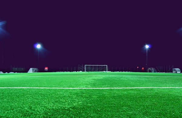 Image: LED flood lighting system for sports grounds in Croydon, Bromley, Lewisham and all areas of South London.
